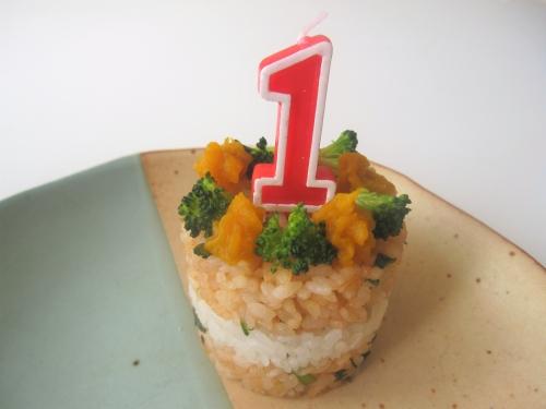 1歳のお誕生日お食事プレートを作る手順
