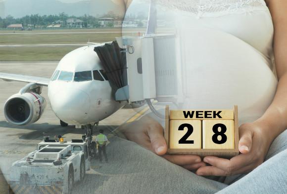 妊娠週数別の搭乗条件について調べている妊婦さん