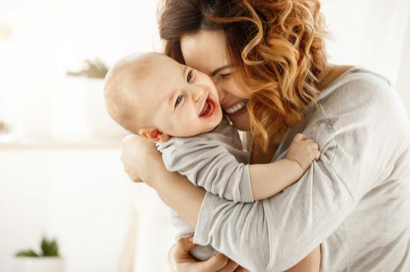 よく笑う赤ちゃん