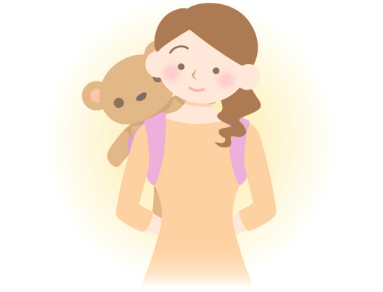 人形やぬいぐるみを使って背負うようにしよう