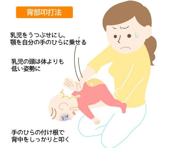 赤ちゃんにも活用できる!背部叩打法のやり方