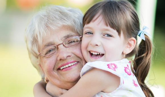 お祖母ちゃんと孫