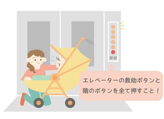 エレベーターの中で地震が起こった時の対処方法