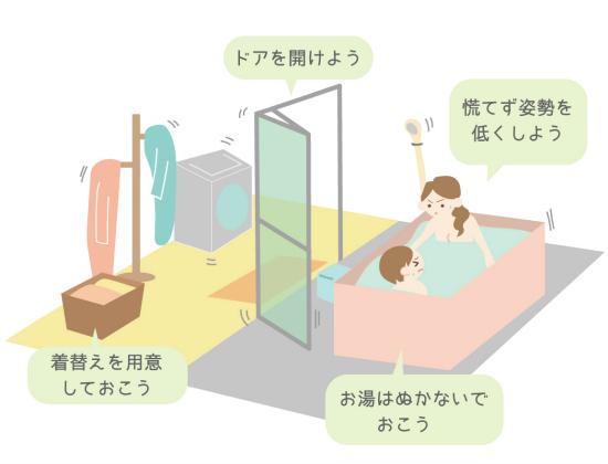 お風呂やトイレにいるときに地震が起こったときの対処方法