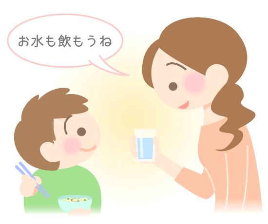 ラーメンを食べるときはお水も一緒に飲もう
