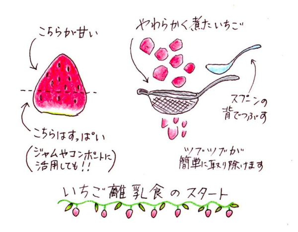 weaning food of strawberry