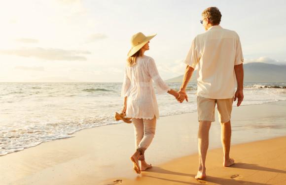 一緒に歩む夫婦