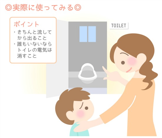 japanese style toilet use point