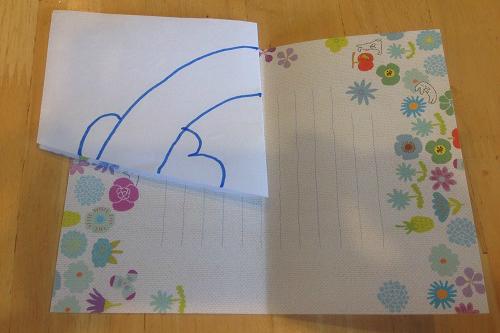 父の日のプレゼントの虹カードの作り方1