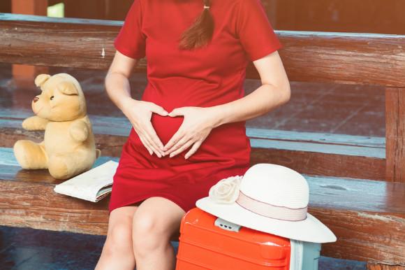 飛行機搭乗予定の妊婦さん