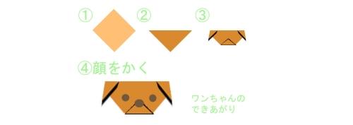 折紙の折り方の例イラスト