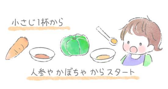 おかゆに慣れたら野菜をとり入れる