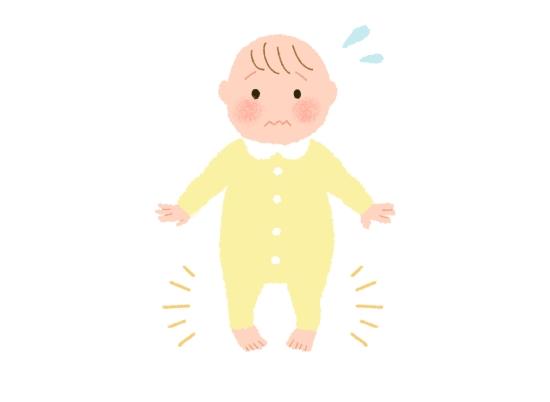 筋力が弱い赤ちゃん