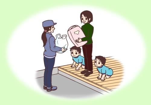ワンオペ育児のイラスト