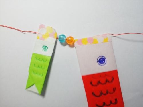 折り紙の鯉のぼりのガーランドを作る手順