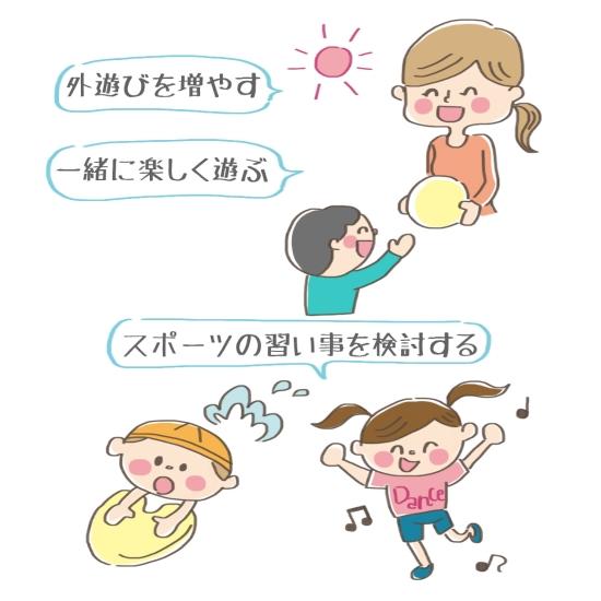 子供に運動してほしいときの親の関わり方