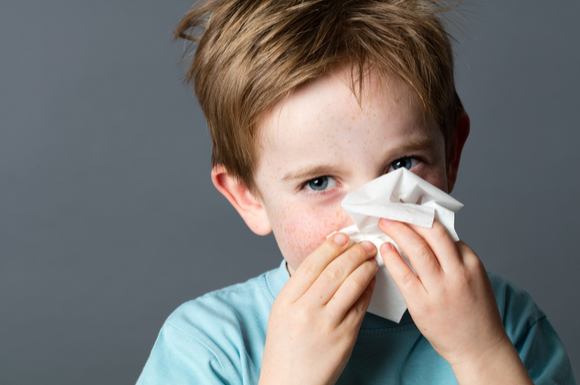 塩素アレルギーかもしれない子供
