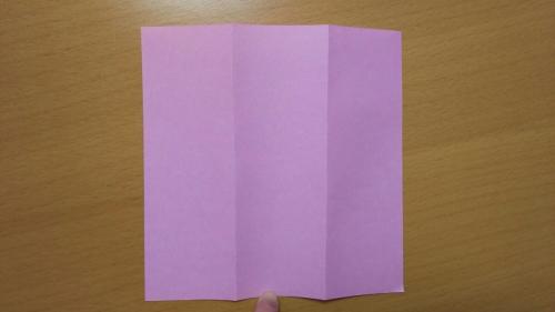 折り紙で短冊を作る手順2
