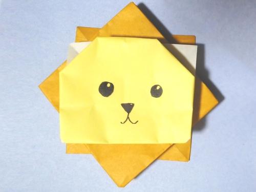 折り紙ライオン