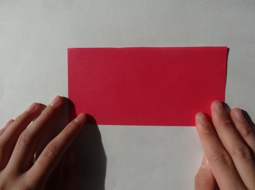 折り紙でキラキラハートを作る折り方の手順1