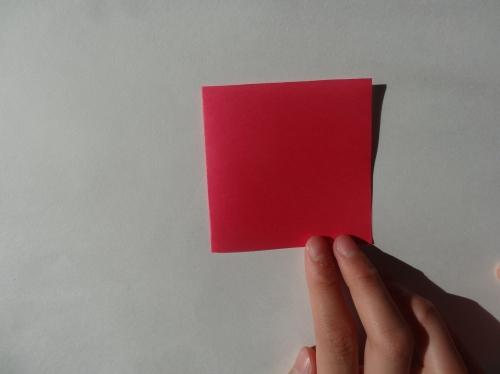 折り紙でキラキラハートを作る折り方の手順2