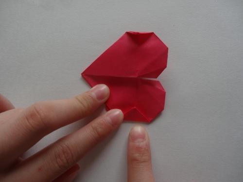 折り紙でキラキラハートを作る折り方の手順15