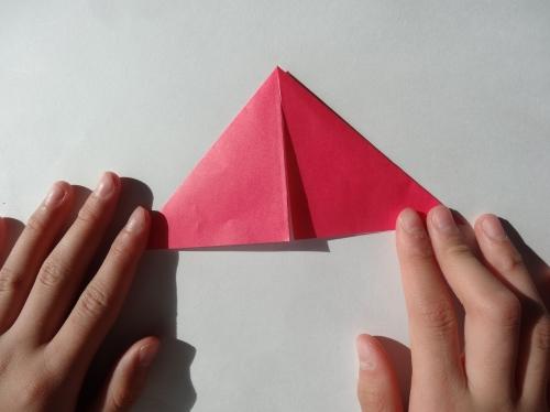 折り紙でキラキラハートを作る折り方の手順3