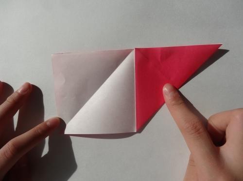 折り紙でキラキラハートを作る折り方の手順4