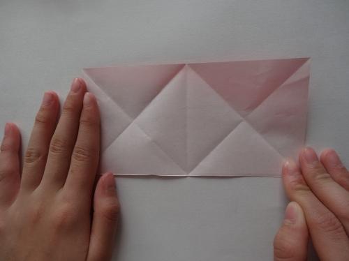 折り紙でキラキラハートを作る折り方の手順5