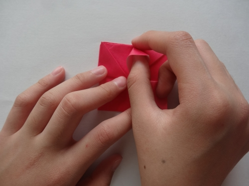 折り紙でキラキラハートを作る折り方の手順10