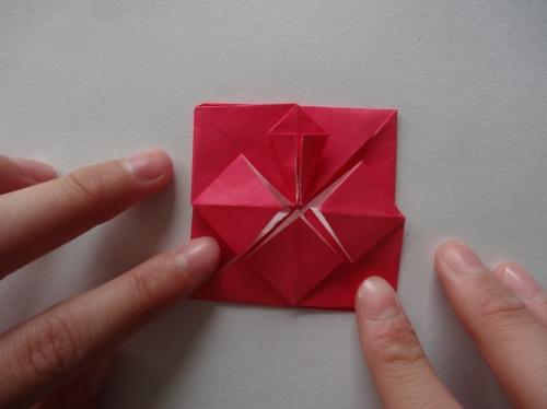 折り紙でキラキラハートを作る折り方の手順11