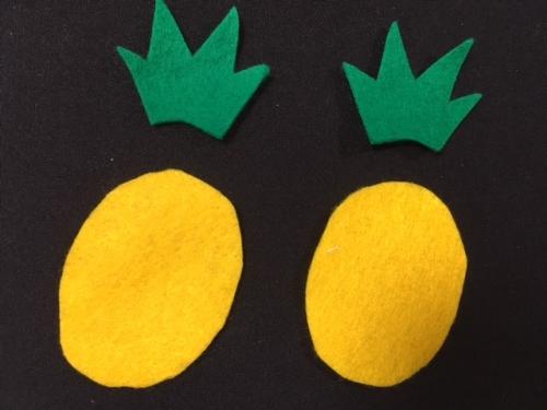 フェルトでパイナップルのおもちゃを作る手順