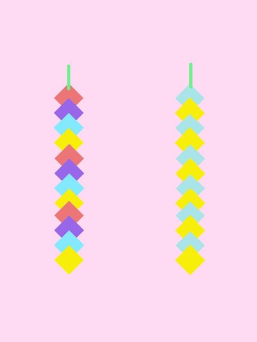 折り紙でひし形つづり作る手順