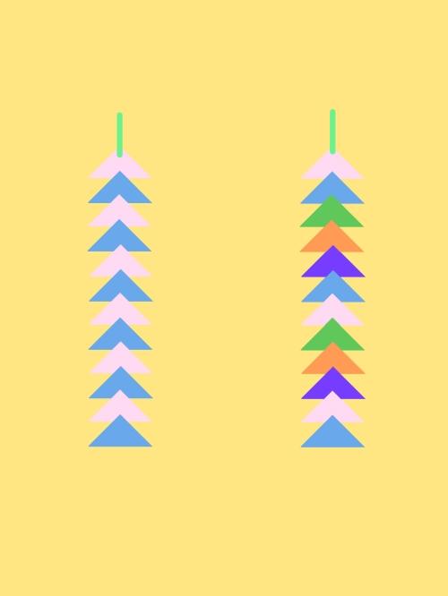 折り紙で三角つづり作る手順