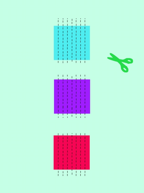 折り紙でわっかつづりを作る手順