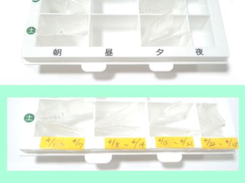 子供の薬を収納している図