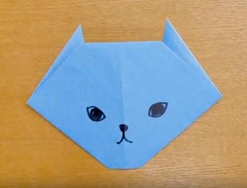 折り紙で簡単に折れるねこ