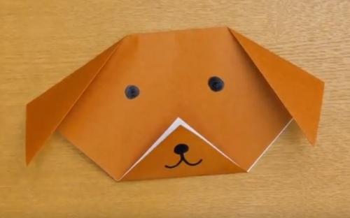 折り紙で折る簡単な犬