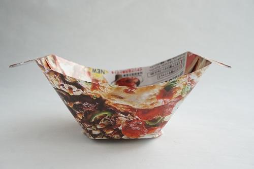 チラシで作るお皿の完成画像