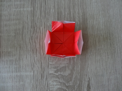 折り紙でランドセルを折る手順の画像