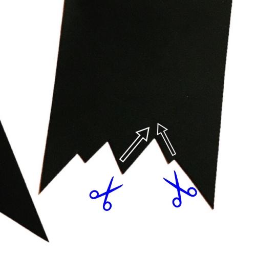 ハロウィン用ガーランド暗闇で光るバージョンの作り方の手順