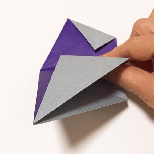 折り紙でろうそく(キャンドル)を折る手順の画像