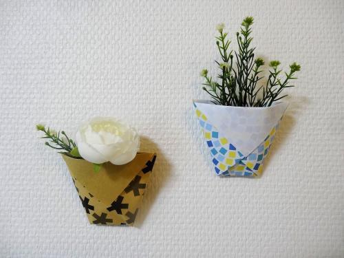 折り紙でコップを折る手順の画像