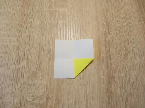 折り紙で目玉焼きを折る折り方の手順の画像