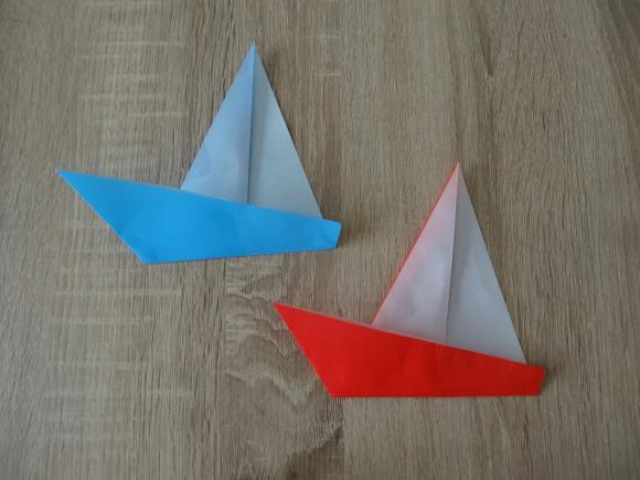 折り紙の簡単ヨット