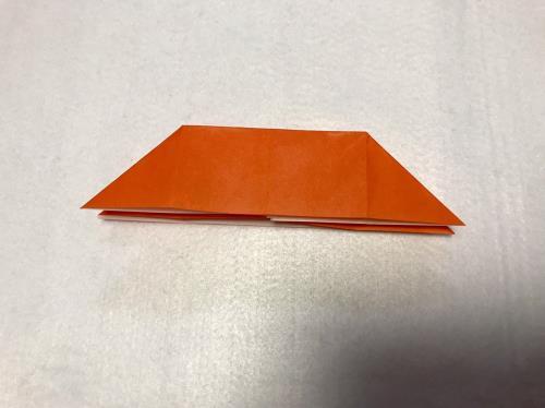 折り紙でみかんを折る手順の画像