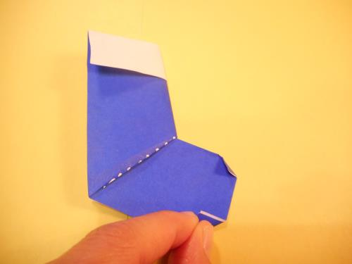 折り紙で長靴を折る折り方の手順の画像