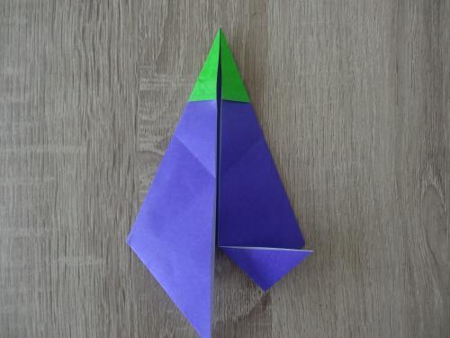折り紙でナスを折る手順画像