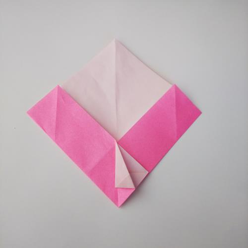 折り紙で可愛い手紙を折る手順の画像