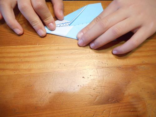 折り紙で鉛筆を折る折り方の手順画像